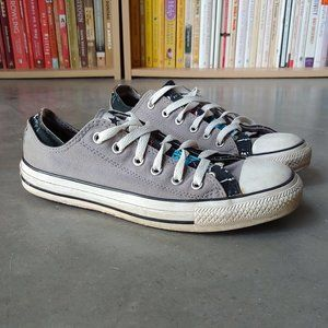 Converse Gray Double Tongue Low Top Sneakers 7/9